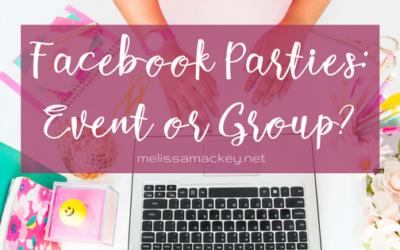 Facebook Parties: Group or Event?